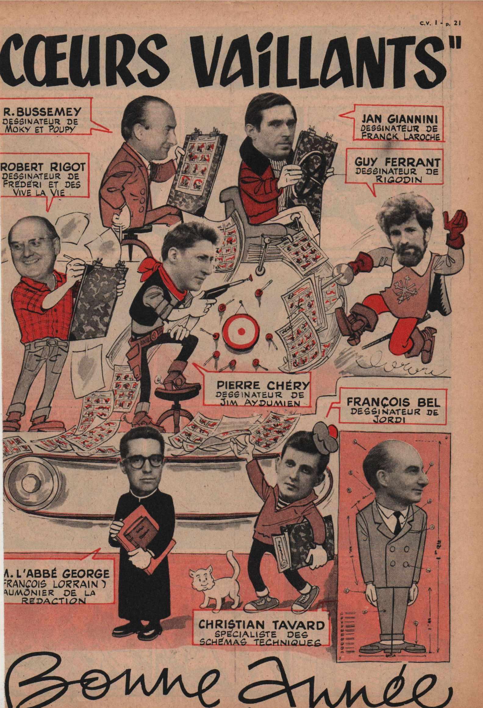 Photo de fin d'année Cœurs vaillants n° 1 (01/1960).