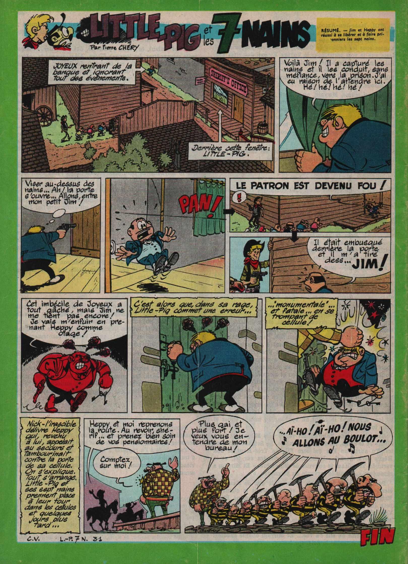 « Jim et Heppy : Little Pig et les 7 nains » J2 jeunes n° 33 (13/08/1964)