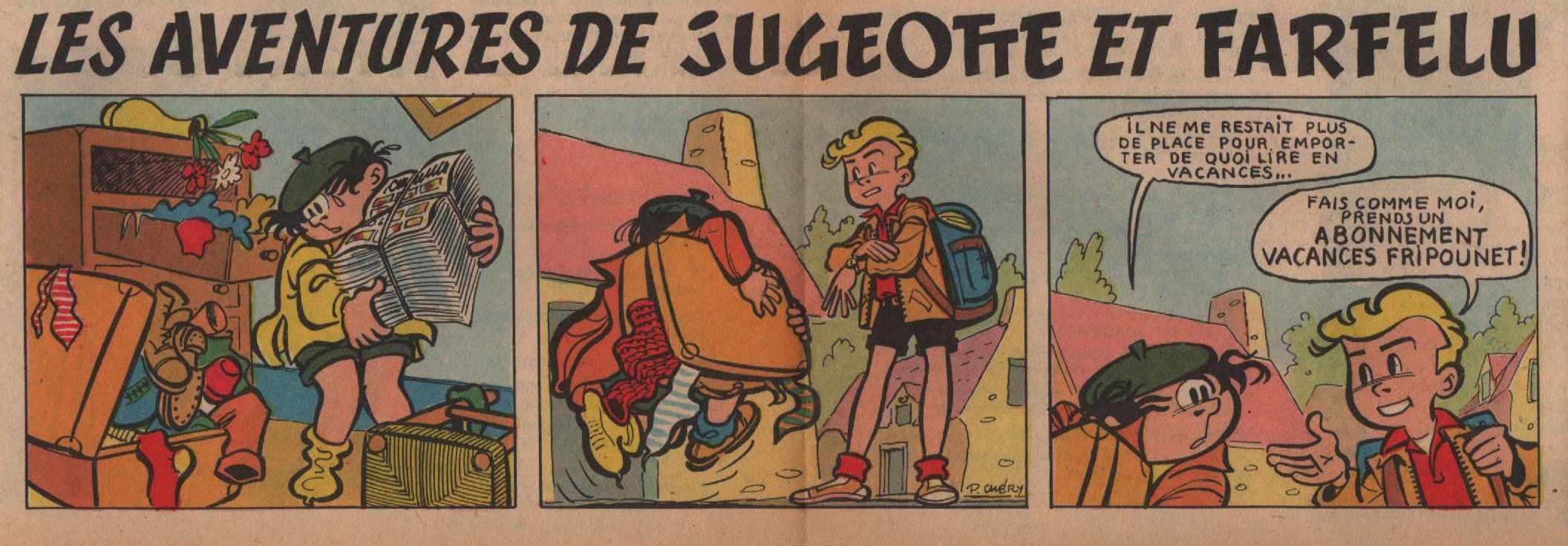 « Jugeotte et Farfelu » Fripounet et Marisette n° 23 (09/06/1957).