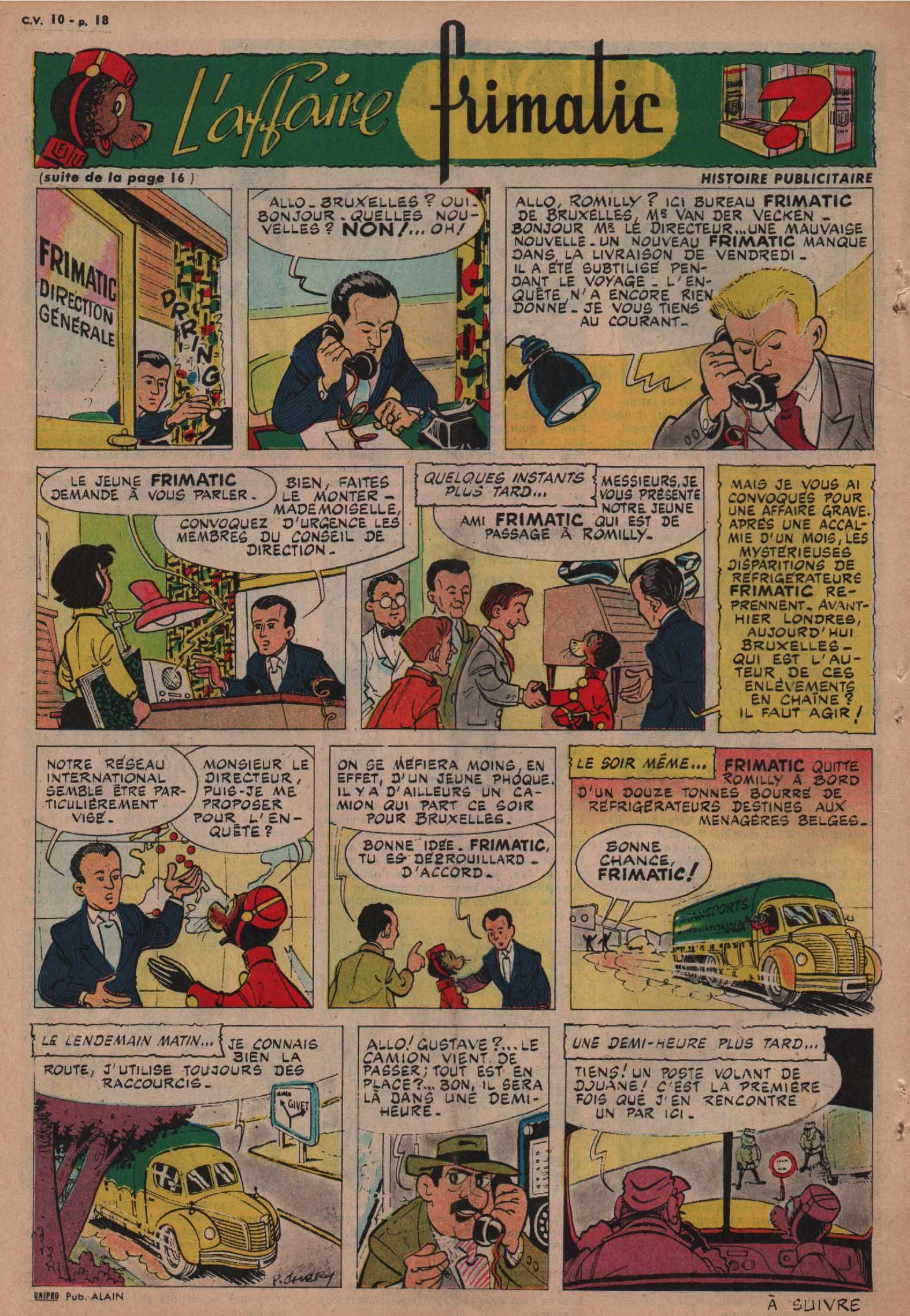 « L'Affaire Frimatic » Cœurs vaillants n° 10 (06/03/1960).