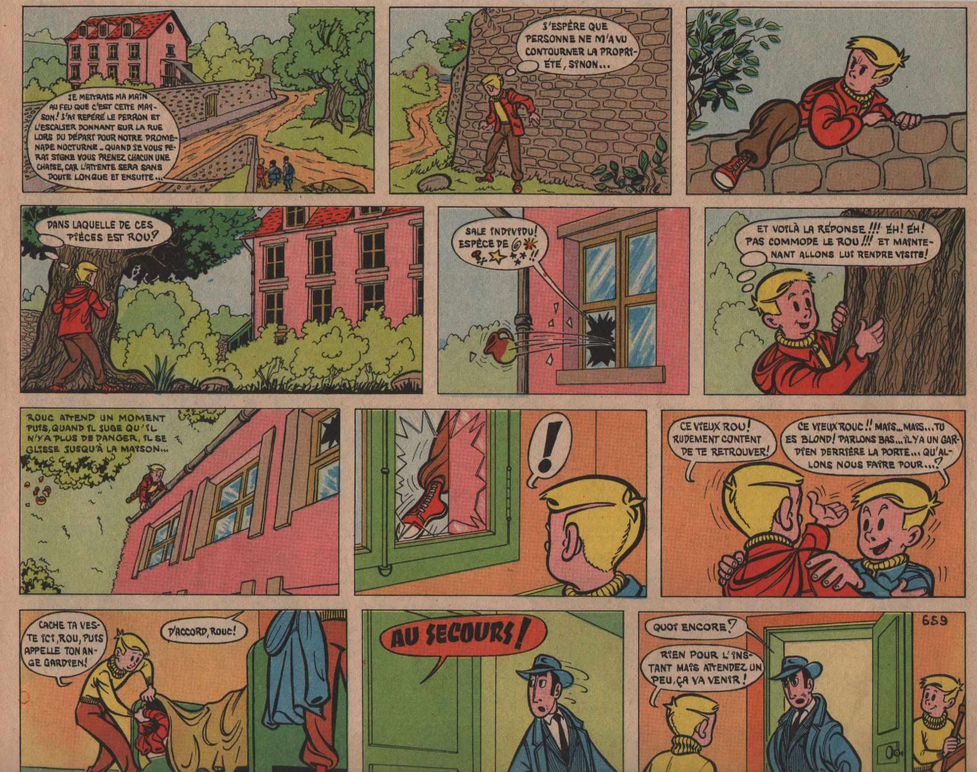 « Rouc et Rou » Vaillant n° 659 (29-12-1957).