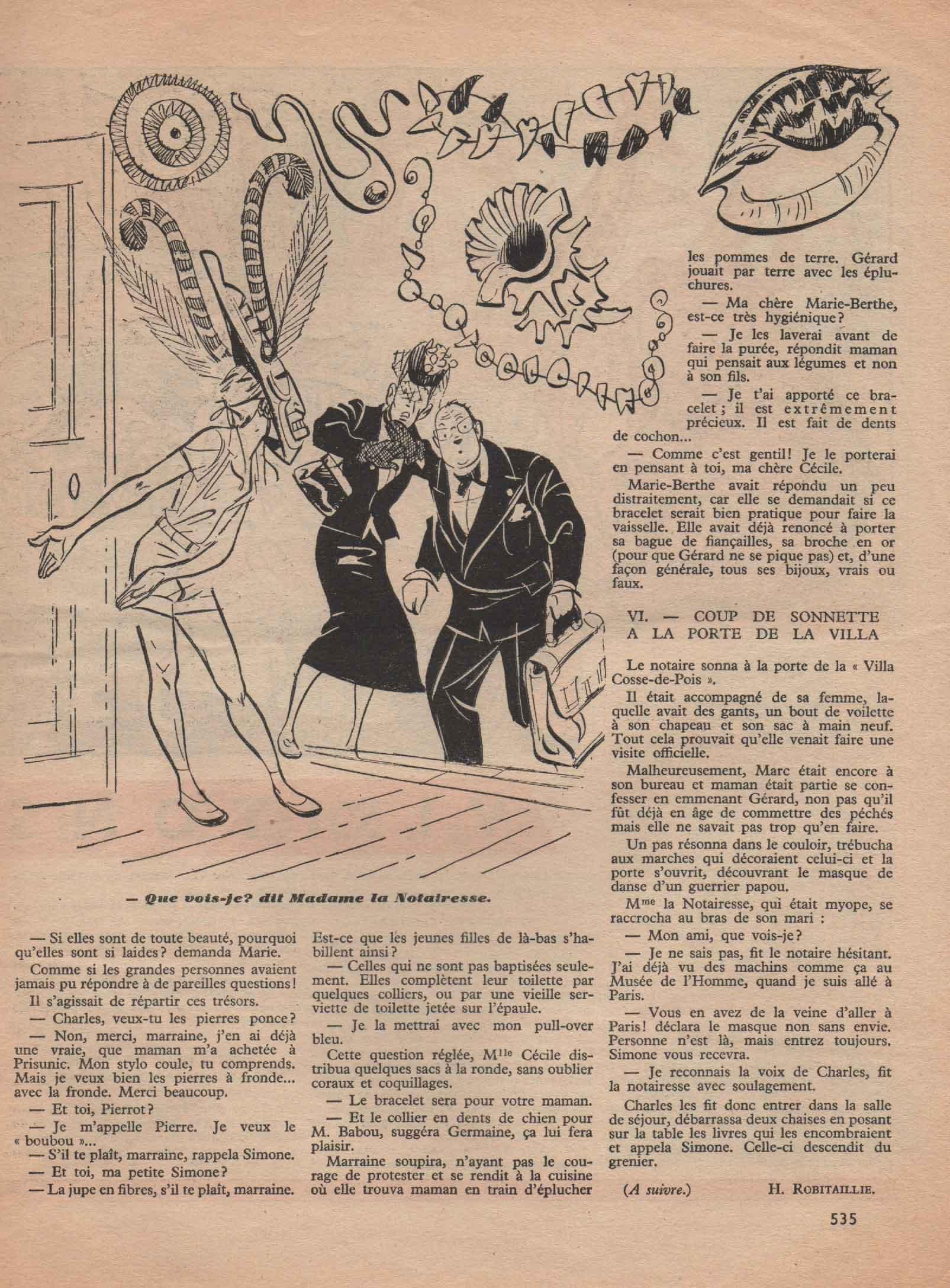 « La Villa Cosse-du-pain » Semaine de Suzette n° 34 (21-07-1955);