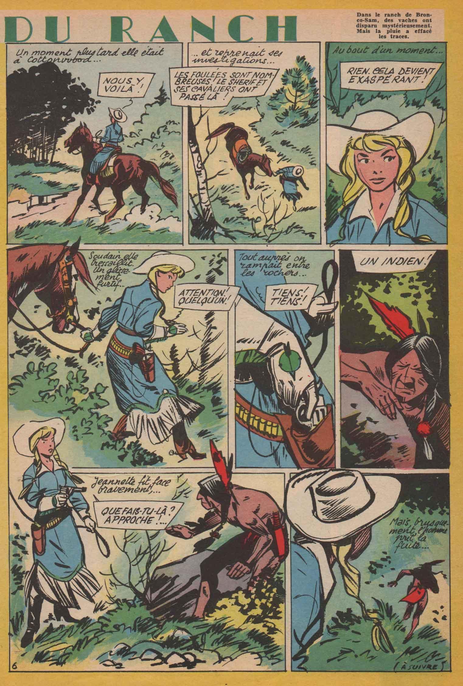 « La Fille du ranch » Bernadette 146 (12/04/1959).