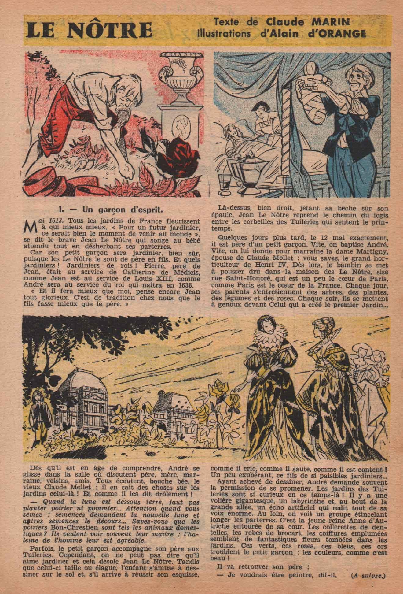 « Le Nôtre » Bayard n° 455 (21/08/1965).