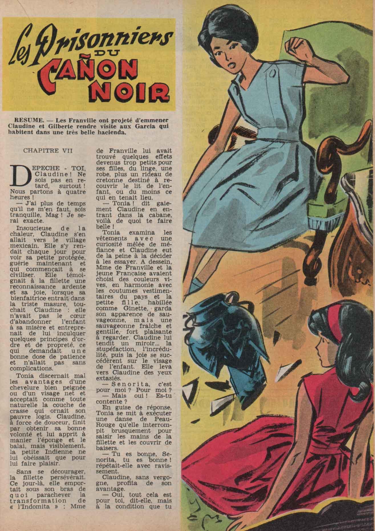 « Le Prisonnier du canon noir » Mireille n° 336 (15/04/1961).