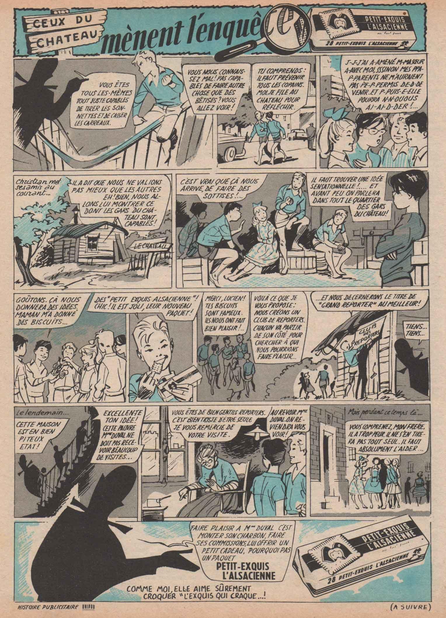 Publicité pour l'Alsacienne (1960).