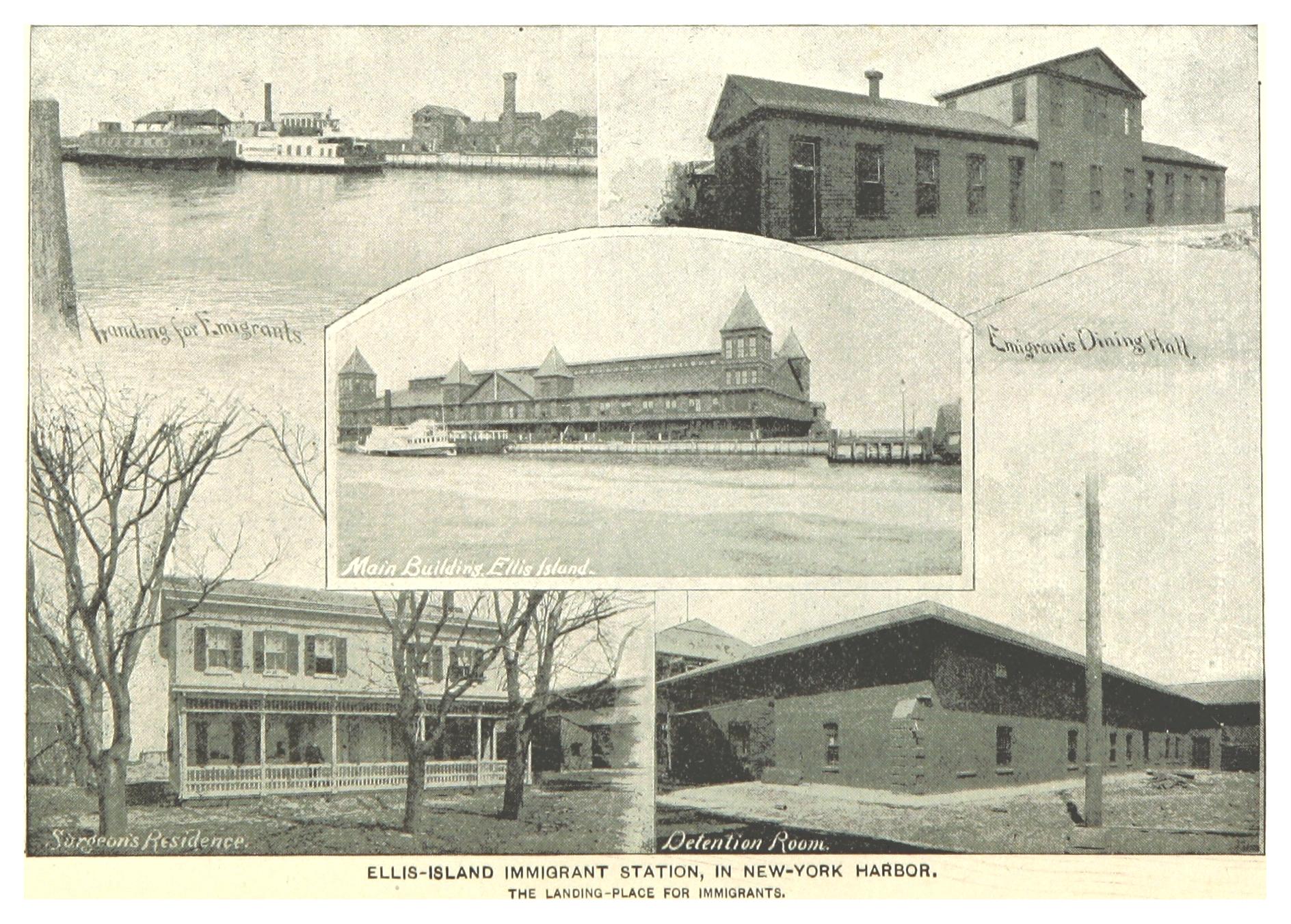 Vues d'Ellis Island en 1893.