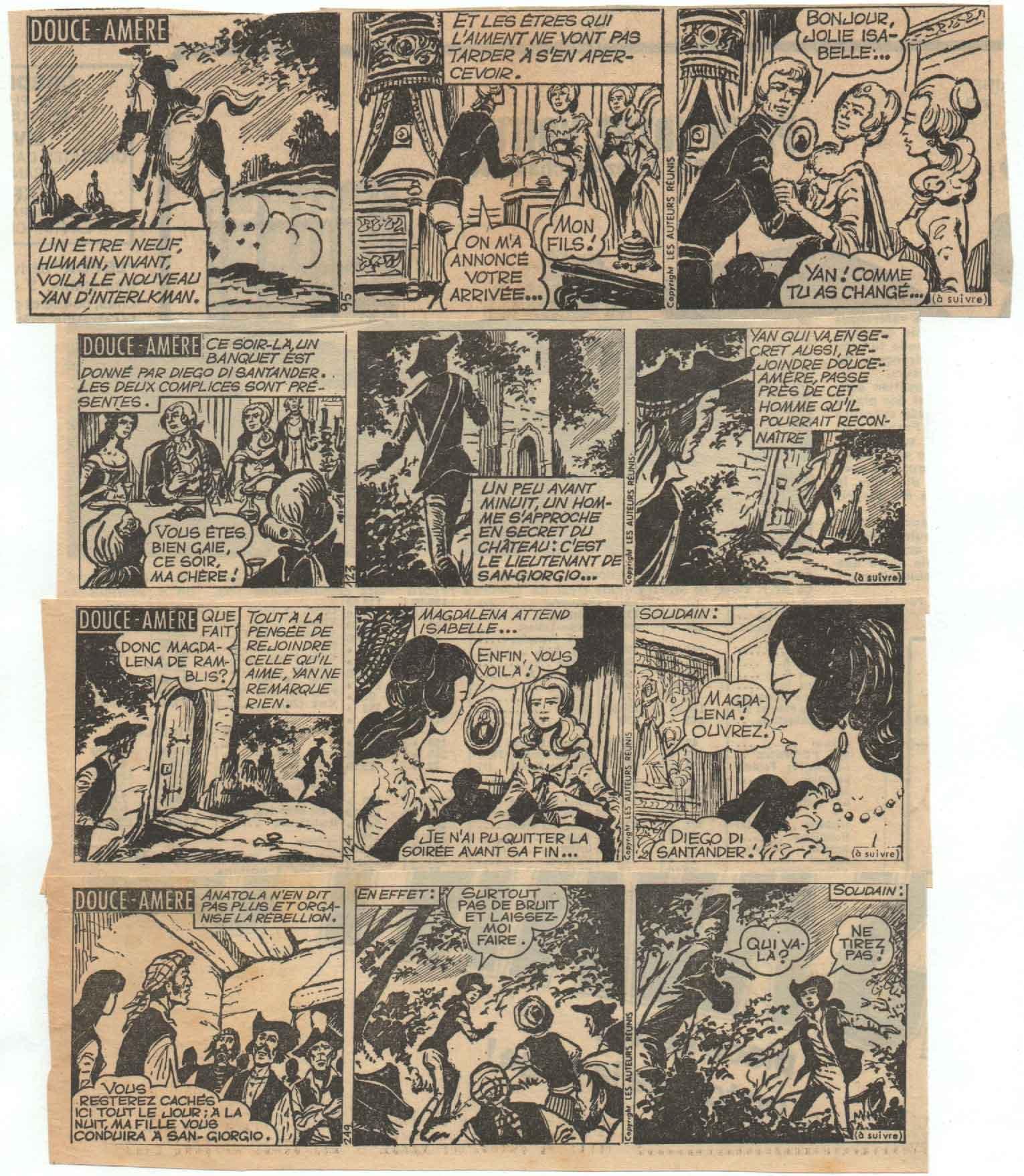 « Douce Amer » Les Auteurs réunis (1965-1966).