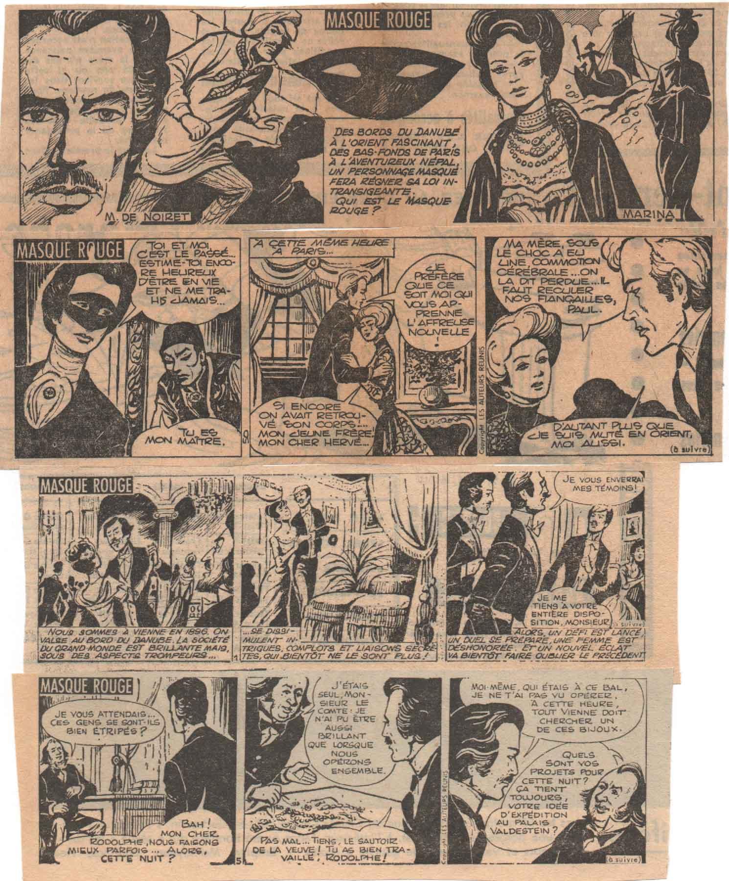 « Masque rouge » Les Auteurs réunis (1967-1968).