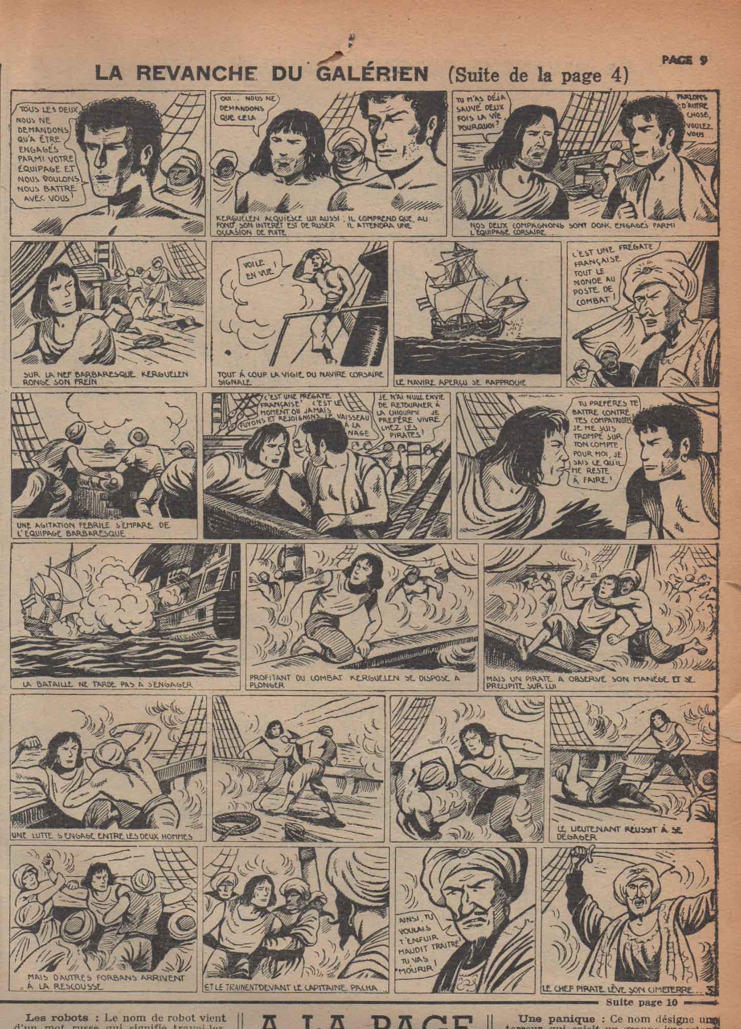 « La Revanche du galérien » Zorro n° 231 (12-11-1950).
