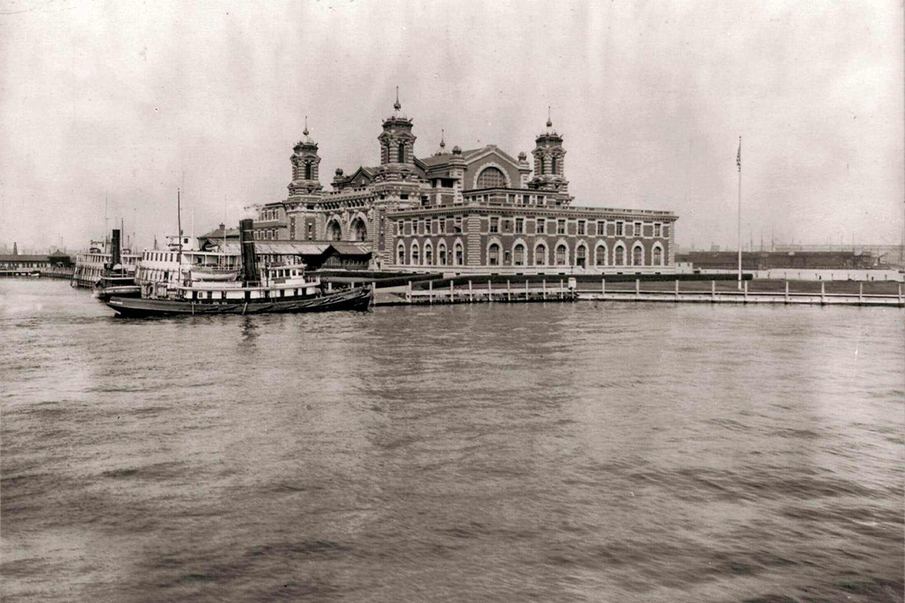 Ellis Island à la fin du XIXe siècle.