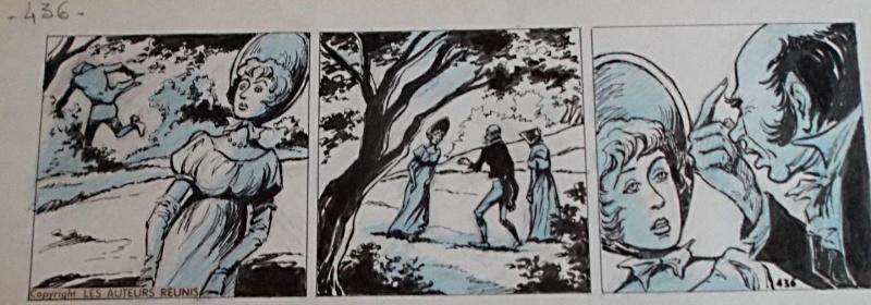 Strip originale de « Monsieur Lecoq ».
