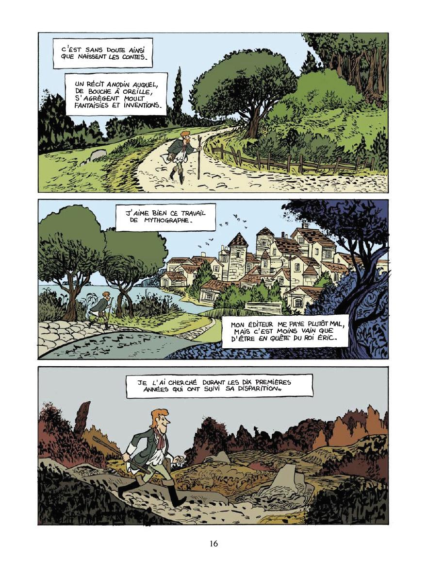 Le sens de la quête (pages 12 et 13 - Delcourt 2020).