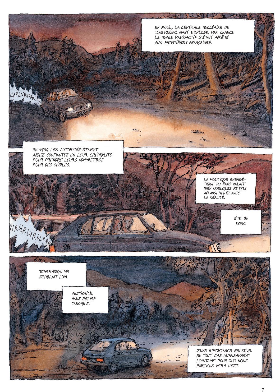 1986 : un autre monde ! (extraits du T1 : planches 3, 9 et 10 - Gallimard 2019).
