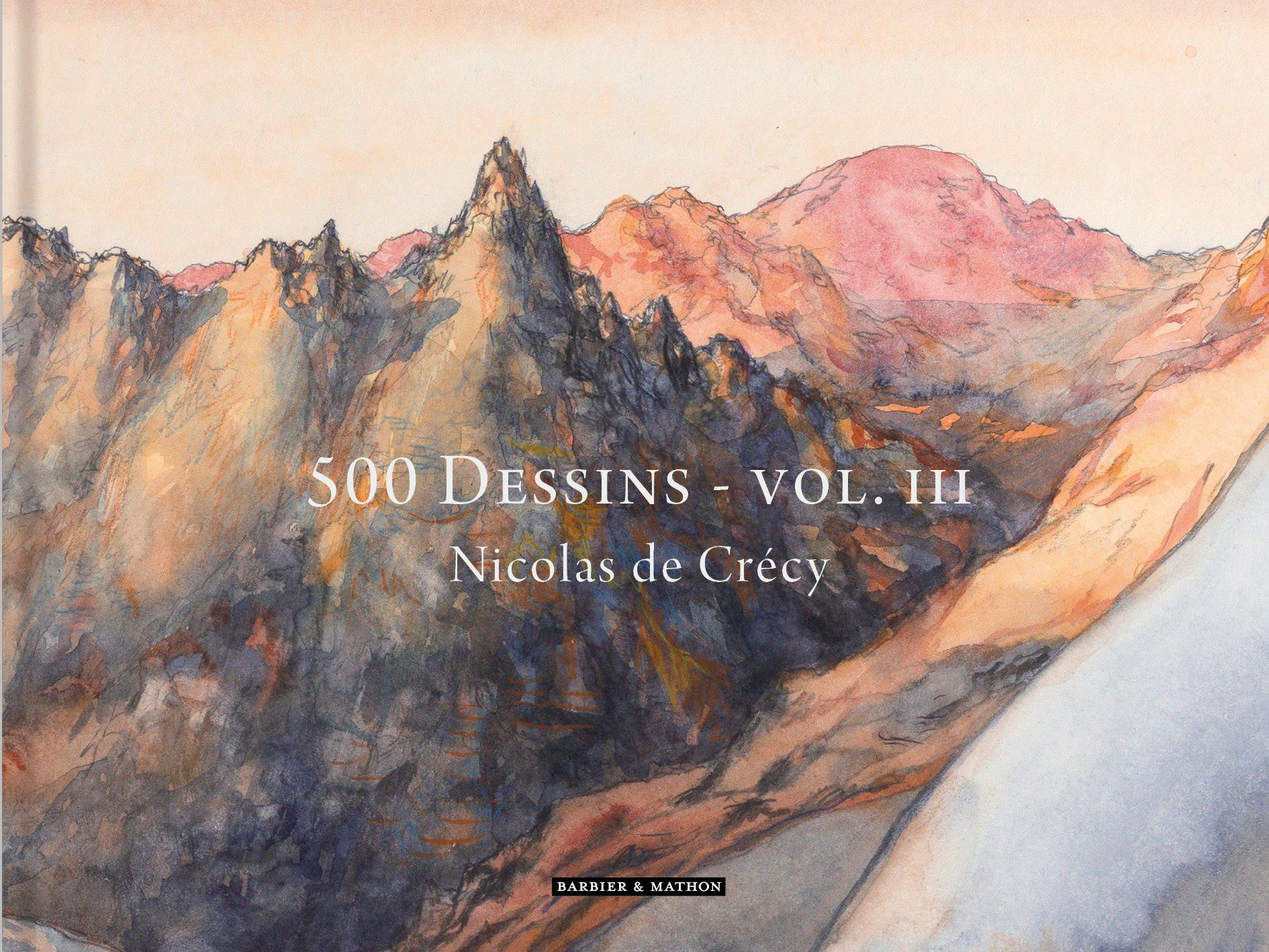 Couverture pour le 3e tome de « 500 dessins » (Makassar, 2018), où l'auteur présente des extraits de ses carnets de voyages au Japon, en Italie, en Corse, en Slovénie ou à Paris.