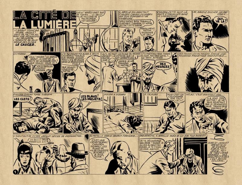 « La Cité de la lumière » Les Aventures en images (01/1950).