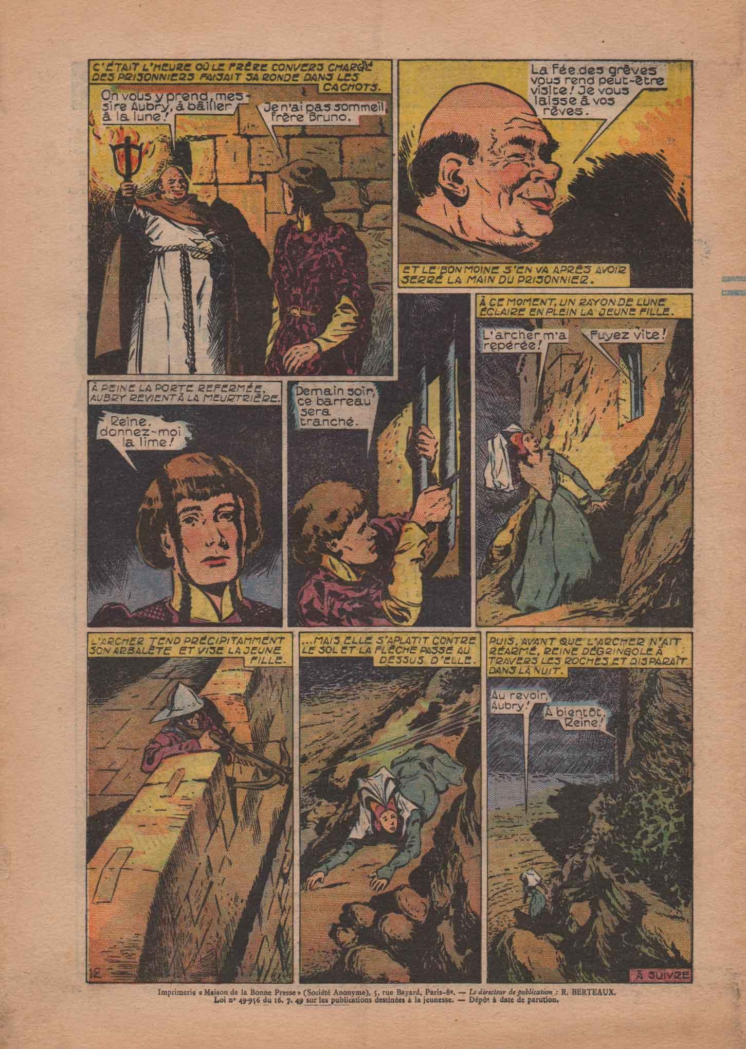 « La Fée des Grèves » Bernadette n° 397 (11/07/1954).