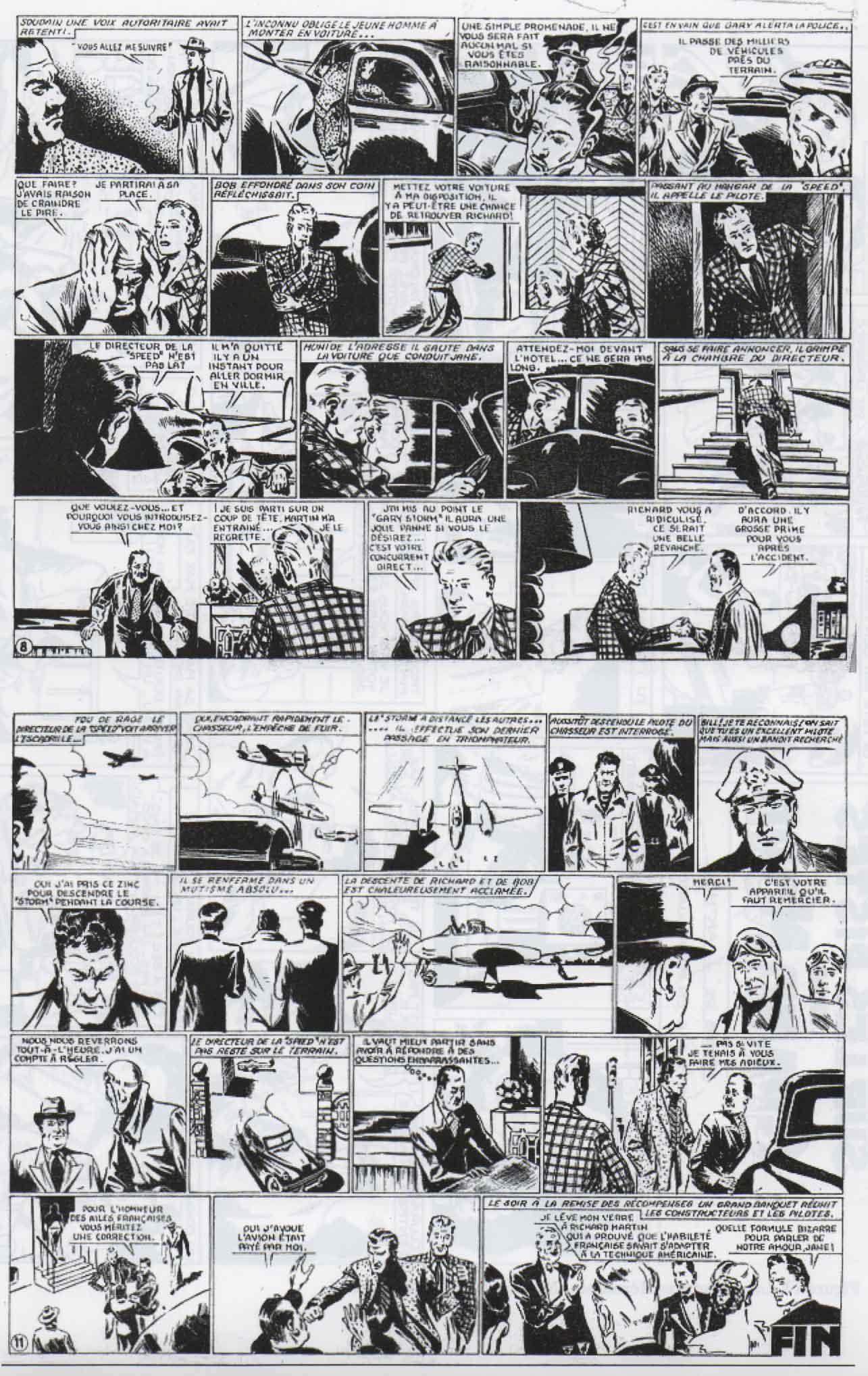 « Atterrissage forcé » Aventures Héroïques (août 1949).