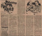 « Le Voyageur de Mars » L'Intrépide n° 104 (01/11/1951);