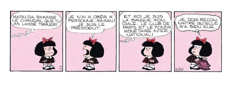 Un strip de « Mafalda ».