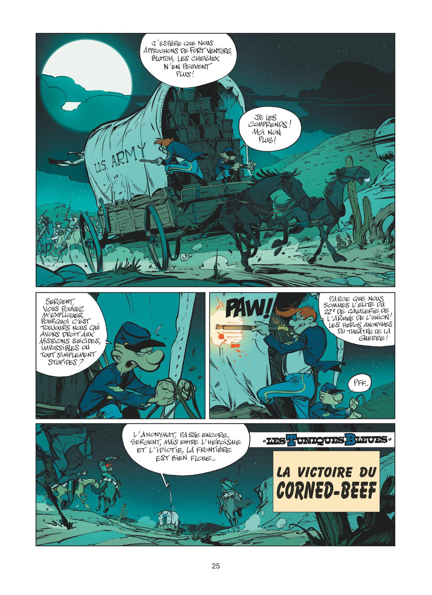 """Première page de """"La Victoire du corned-beef"""" par Munuera, hommage publié en 2016 dans un ouvrage collectif."""