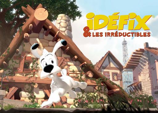 Visuels pour la série d'animation et l'album « Idéfix et les Irréductibles ».
