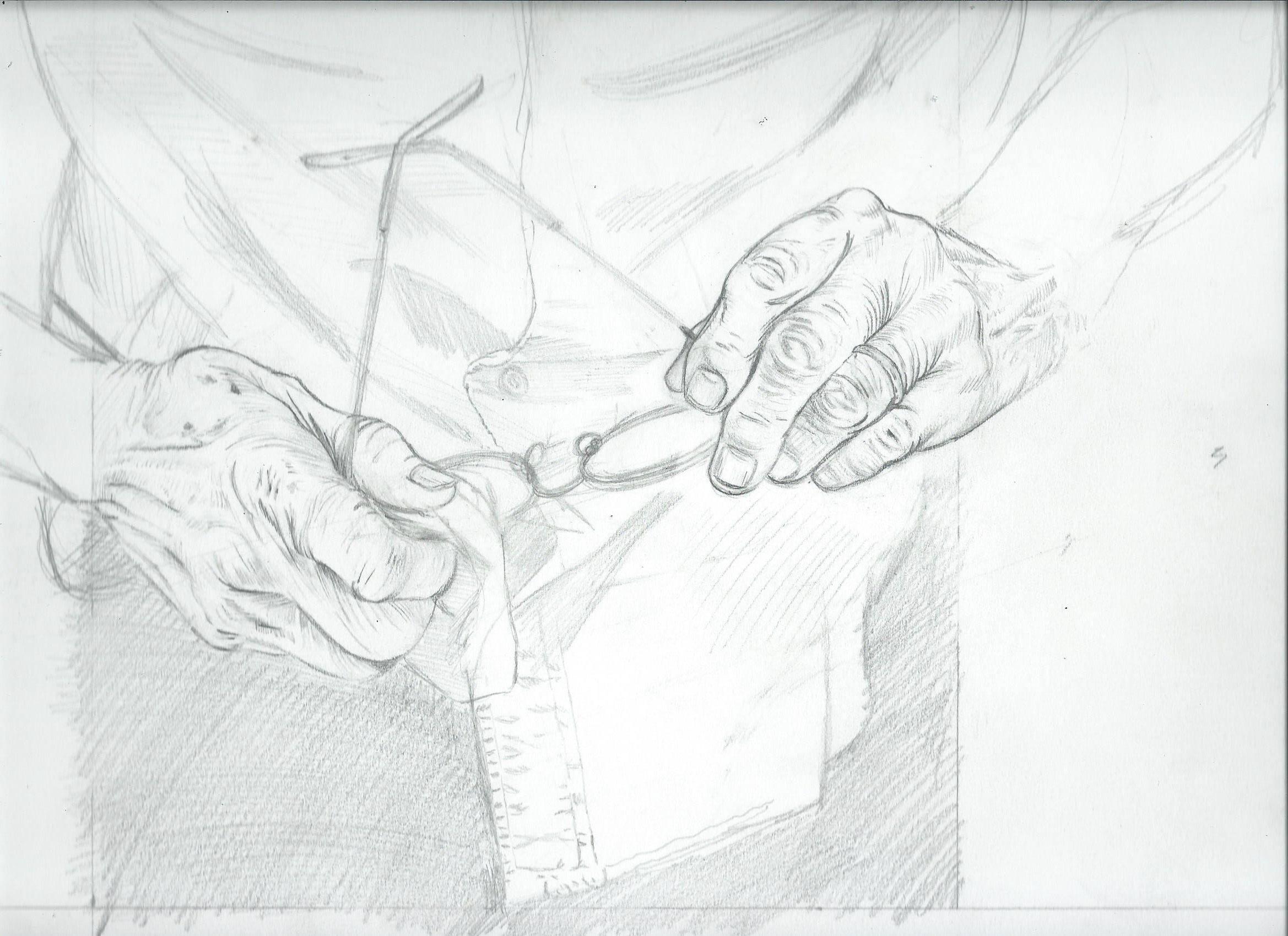 Crayonné, détails et mise en couleurs de la couverture par Gérard Goffaux.