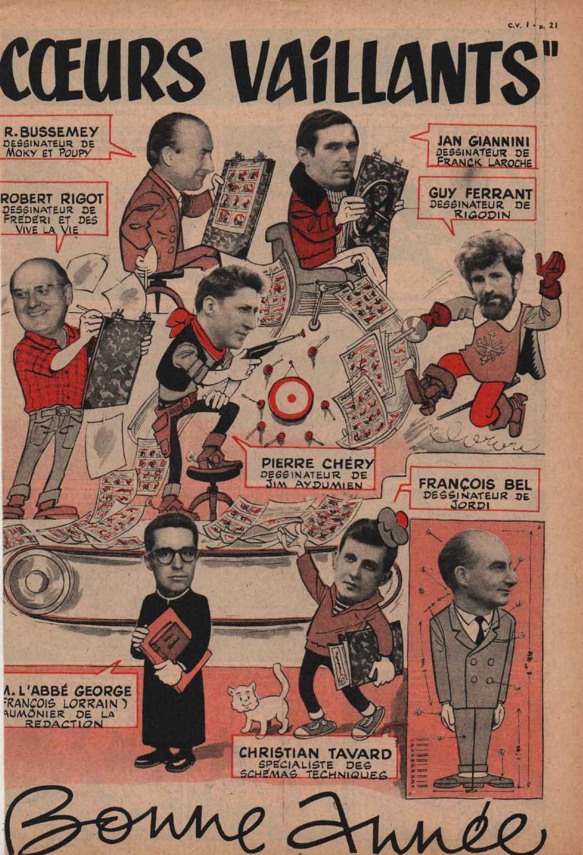 François Bel : Cœurs vaillants n° 1 (01/1960).