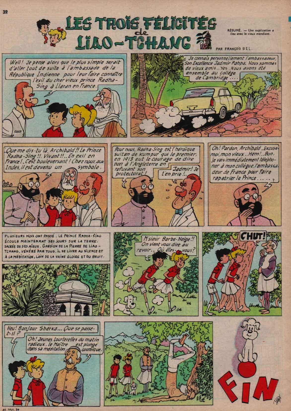 «Pat et Moune: Les Trois Félicités de Liâo-Tchang» : J2 magazine n°9 (27/02/1964).