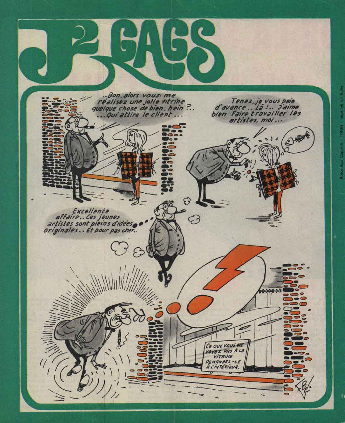 Gag: J2 magazine n°8 (20/02/1969).