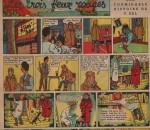 «Phil et Jordi: Les Trois Feux rouges» : Cœurs vaillants n°15 (08/04/1956).