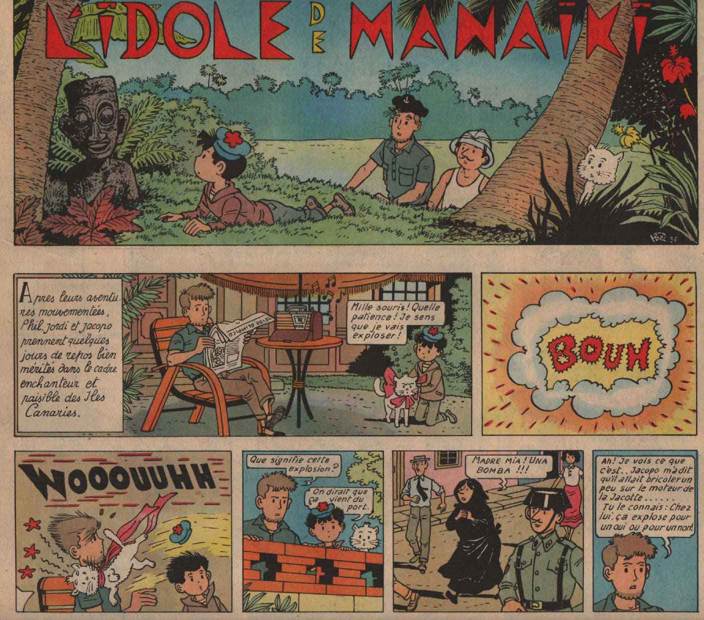 «Jordi: L'Idole de Monaiki» : Cœurs vaillants n°15 (08/04/1957).