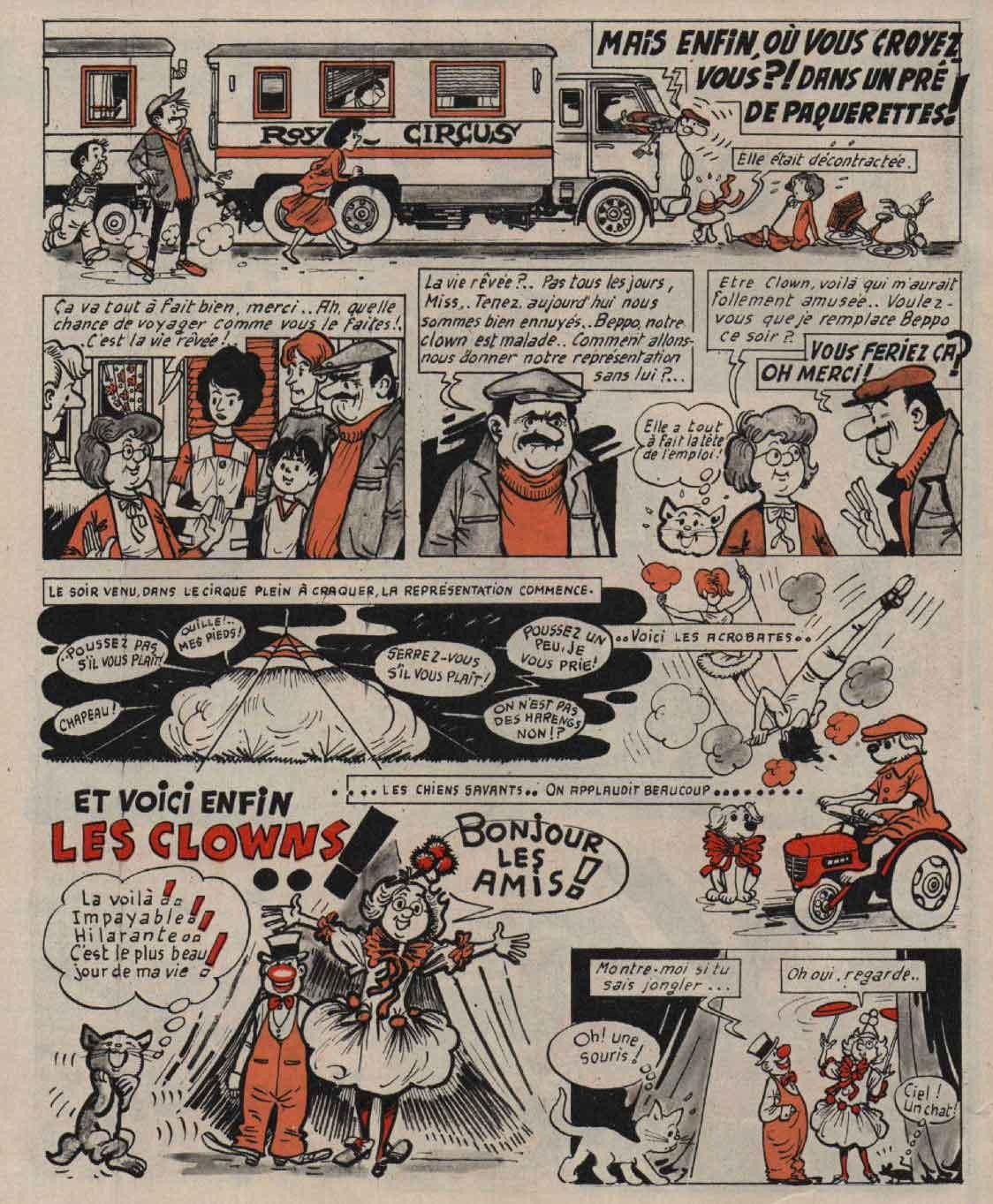 «Miss Justine» : Fripounet n°40 (02/10/1969).