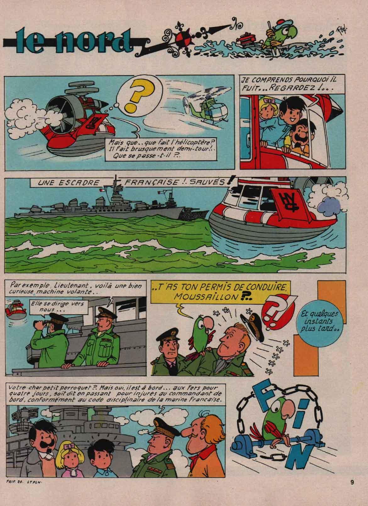 «Pat et Moune: Le Triton perd le Nord» : Fripounet n°36 (15/09/1971).