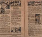 «La Guerre est déclarée» : Cœurs vaillants n°37 (14/09/1947).