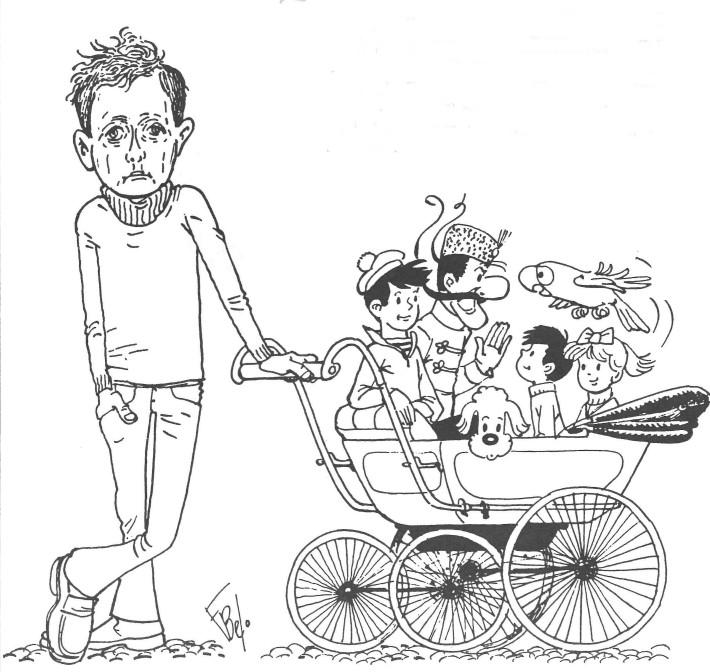 Autoportrait de François Bel publié dans le n° 37 du fanzine Haga (1978).