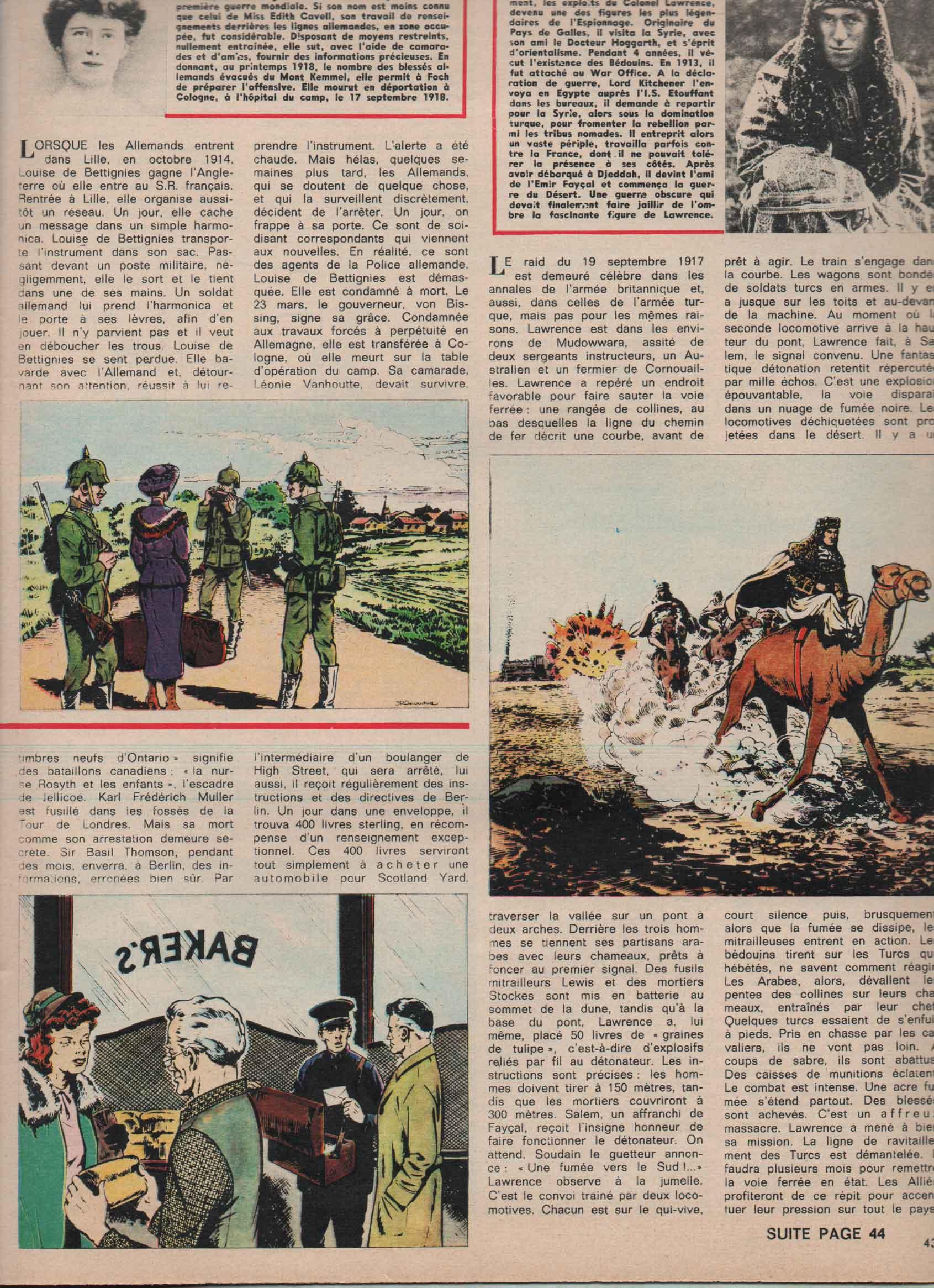 « Les Espions célèbres » Pilote n° 394 (11/05/1967).