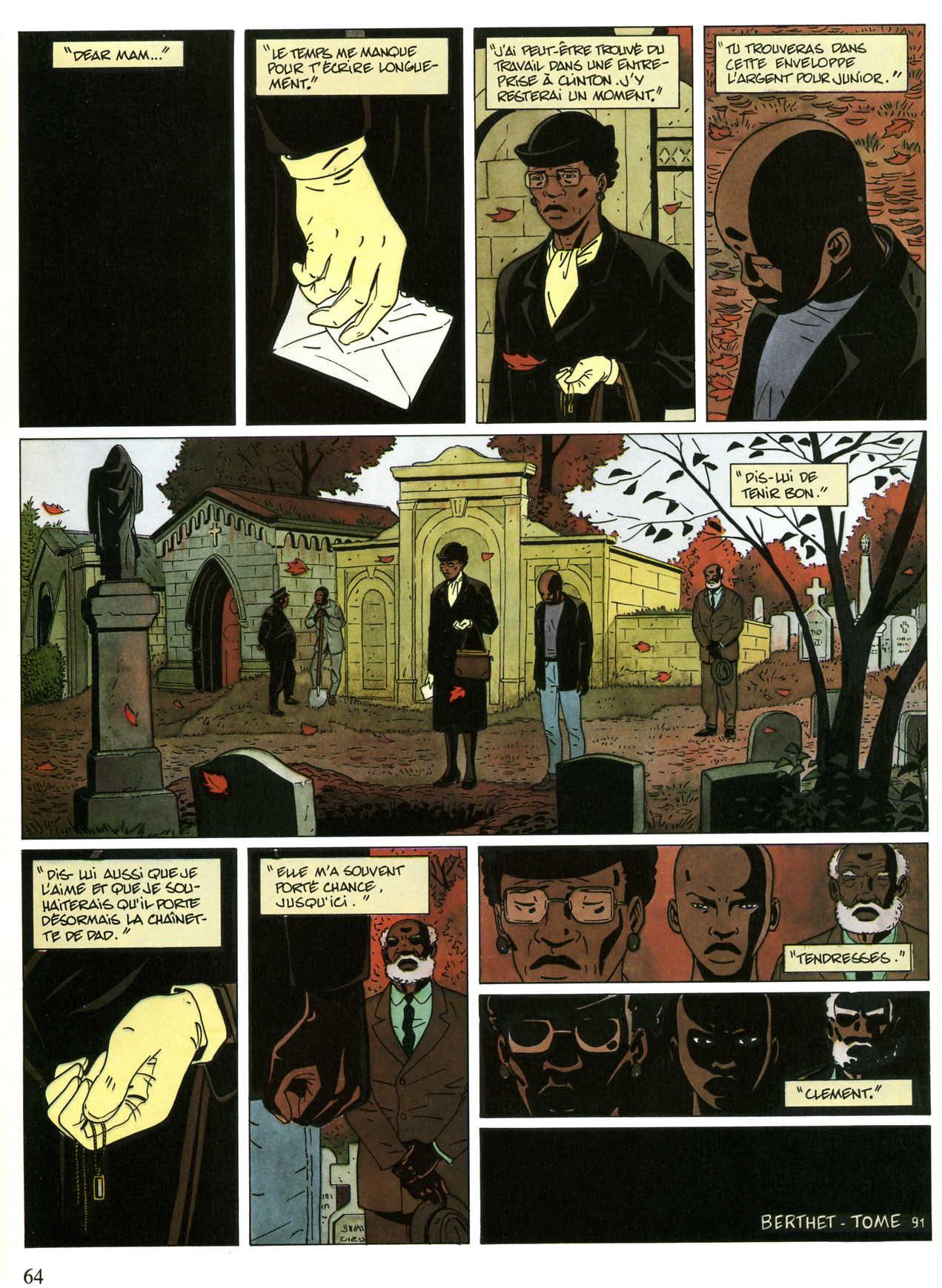 Planche finale de « Sur la route de Selma » ( Berthet et Tome, Dupuis 1991)