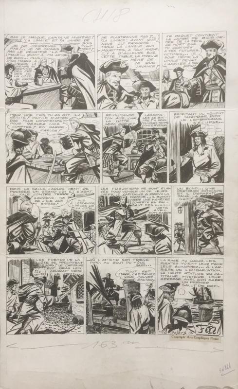 Planche originale de « Capitaine Mystère ».