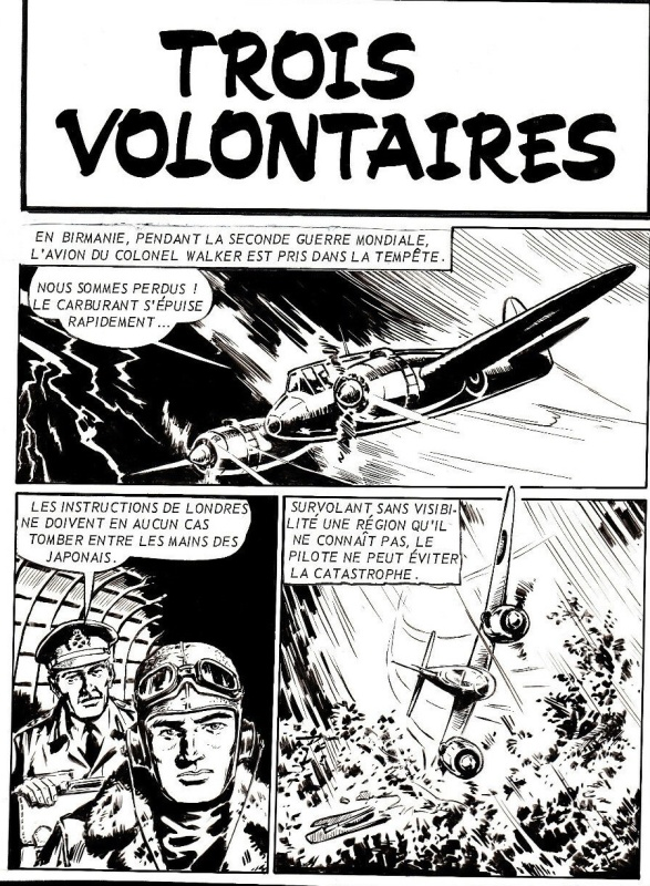 Planche originale de «Trois Volontaires » Canyon n° 8 (02/1969),