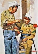 Dessin d'Andreas Rosenberg pour la Légion étrangère.