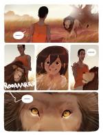 La rencontre avec les lions.