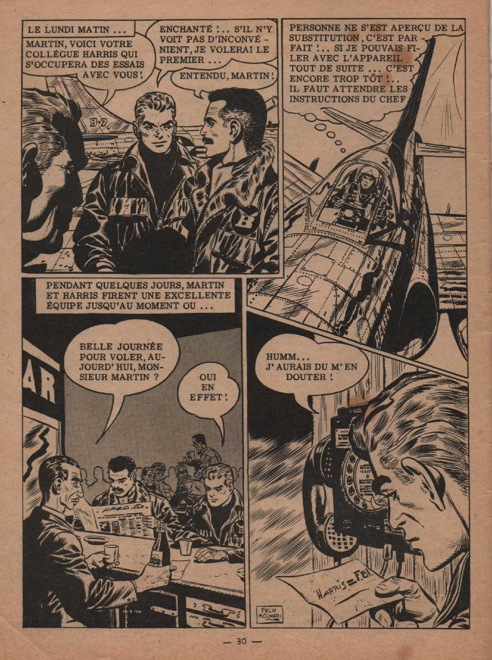 « Kidnapping en plein ciel » Garry n° 133 (06/1959).