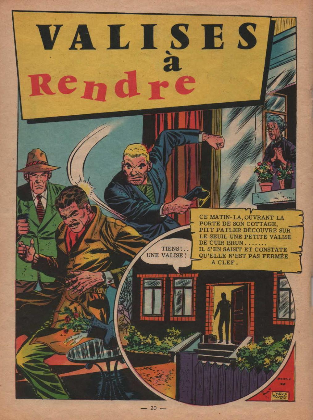 « Valises à rendre » Garry n° 142 (mars 1960).
