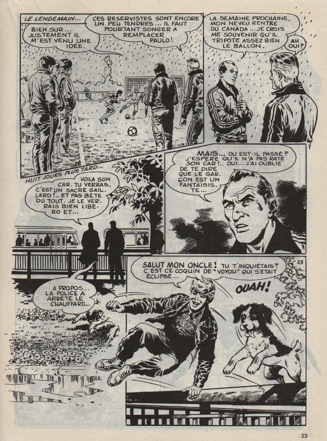 « Allez les blancs ! » Crampons n° 1 (2e trimestre 1986).