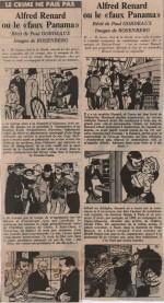 « Le Crime ne paie pas : A. Renard » France-Soir (1965).