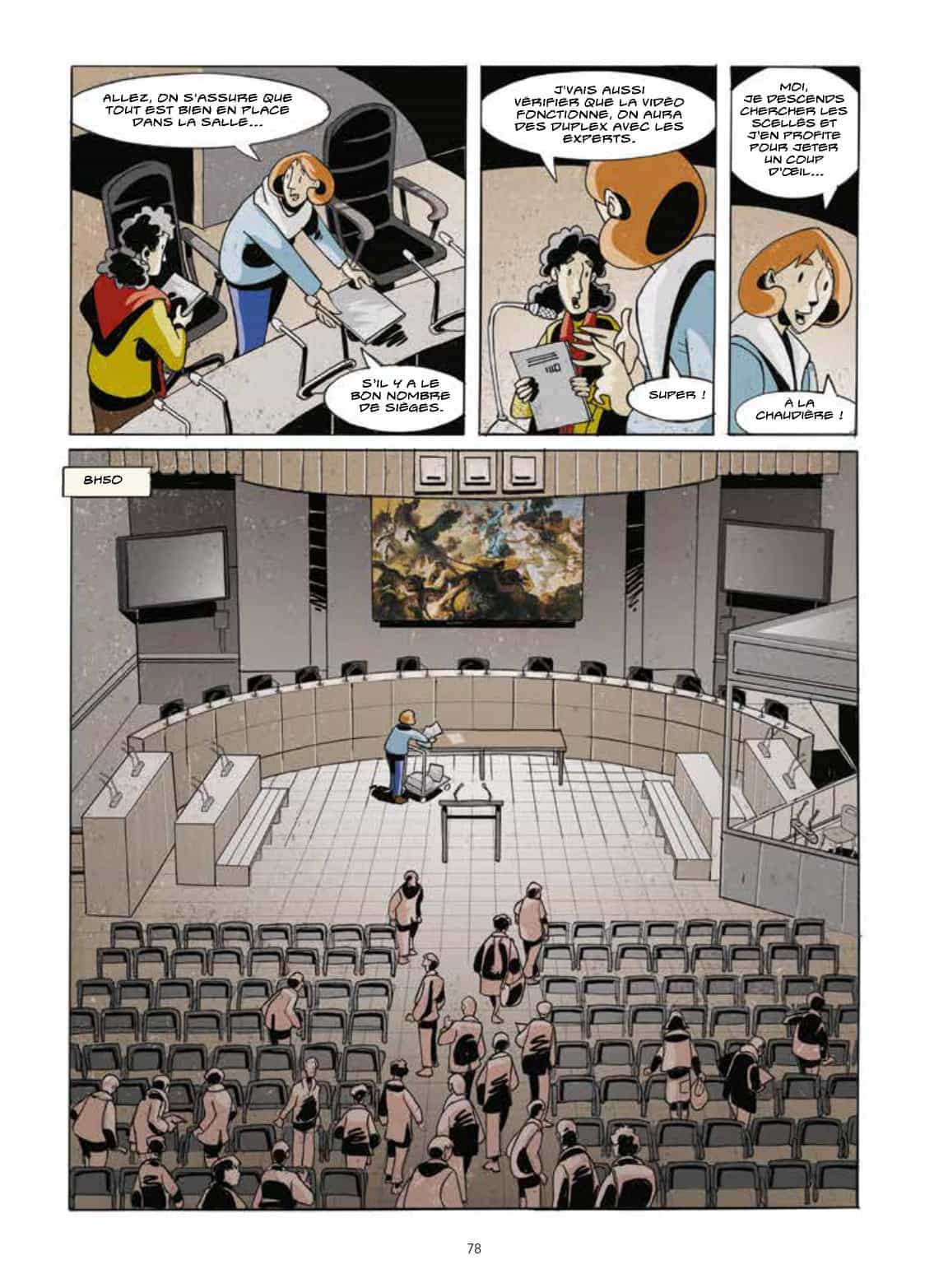 Le grand théâtre de la Justice (page 78 - Futuropolis, 2021).