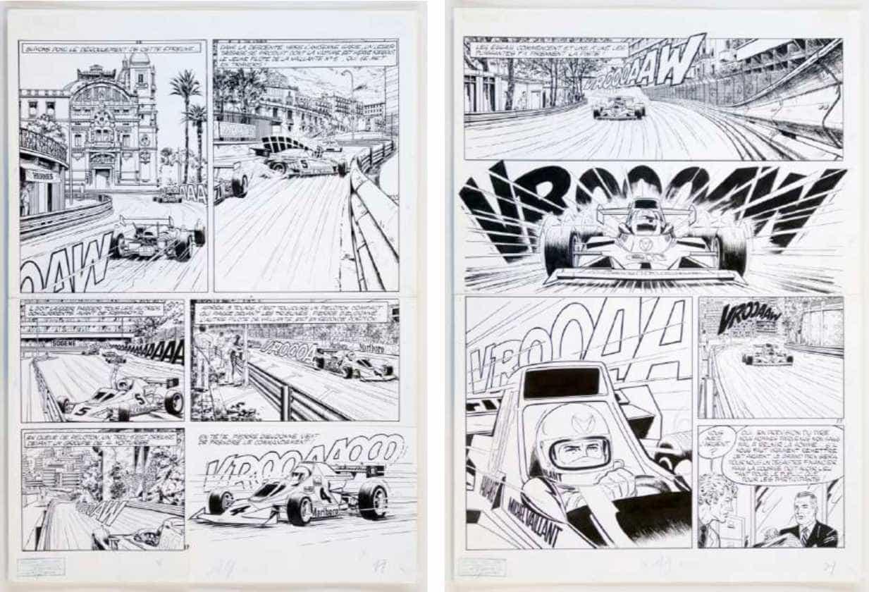 Planches originales de « Monaco », en 1975.