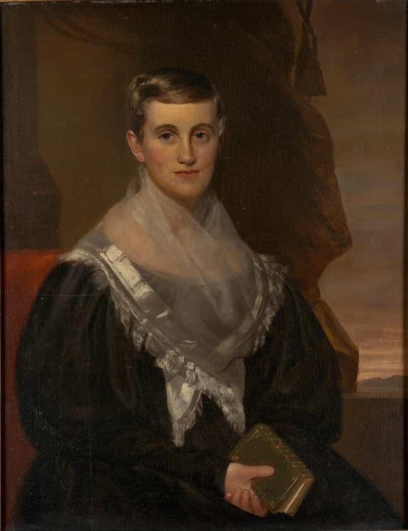 Prudence Crandall (portrait par Francis Alexander, 1834).
