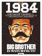« 1984 » (éd. du Rocher, 2021) : couverture, premières planches et cases d'ambiance.